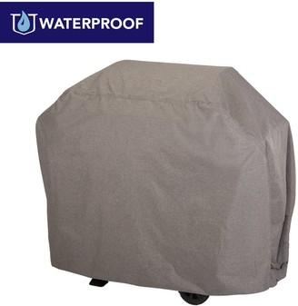 "Modern Leisure Garrison Waterproof Outdoor Patio 4-Burner Grill Cover, 65"" W x 25"" D x 44.5"" H, Heather Gray, Model 3007"