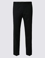M&S Collection Black Regular Fit Trousers