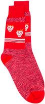 Paul Smith Red Ear - strawberry skull socks - men - Cotton/Polyamide - One Size