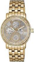 Titan Women's 9743YM01 Contemporary - Multifunction - Silver Dial Gold Metal Strap Watch