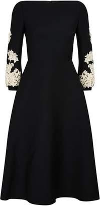 Valentino Embroidered Sleeve Dress