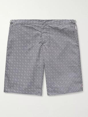 Orlebar Brown Dane II Long-Length Printed Swim Shorts - Men - Blue