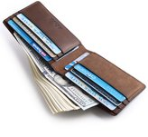 kinzd Mens Bifold Slim Wallet with RFID BLOCKING Protection for Cards and Cash