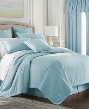 Colcha Linens Cambric Aqua Duvet Cover-King Bedding