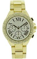 JCPenney Womens Crystal Bezel Chronograph Watch