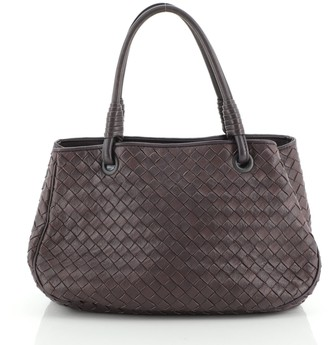 Bottega Veneta Open Shopping Tote Intrecciato Nappa Small