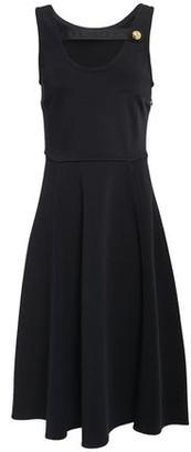Prada Cutout Satin-trimmed Ponte Dress