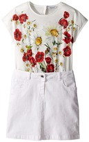 Dolce & Gabbana Fiori Combo Dress (Big Kids)