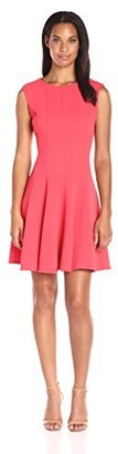 Julian Taylor Women's Fit and Flare Bubble Knit Dress