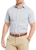 Hart Schaffner Marx Poplin Printed Short-Sleeve Shirt