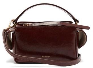 Wandler Yara Mini Cracked-leather Cross-body Bag - Womens - Burgundy