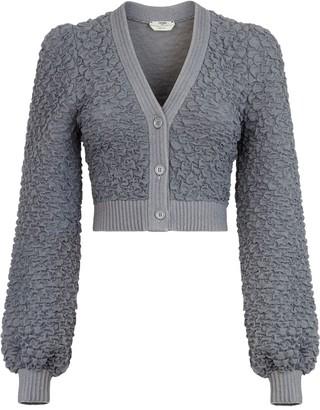 Fendi Shirred Knit Cardigan