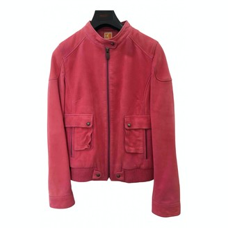 BOSS ORANGE Pink Leather Coat for Women