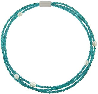 Overstock Crystal Fresh Water Pearl Choker Necklace/Bracelet with Magnetic Clasp