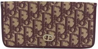 Christian Dior Burgundy Cloth Wallets
