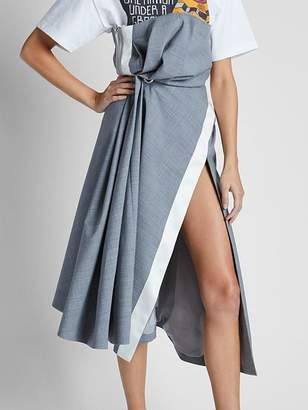 Sacai Drape Suiting Dress