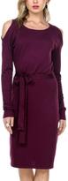 Stanzino Purple Open-Shoulder Sheath Dress