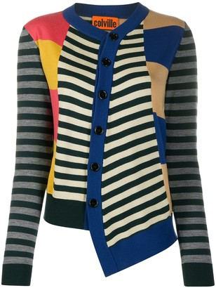 Colville Asymmetric Striped Cardigan