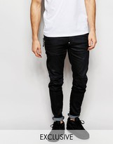 G Star G-Star BeRAW Jeans 5620 Elwood Super Slim Black Coated Zip Detail