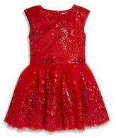 Halabaloo Toddler's & Little Girl's Elegant Embroidered Embellished Dress