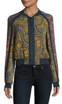 BCBGMAXAZRIA Woven Multi-Colored Jacket