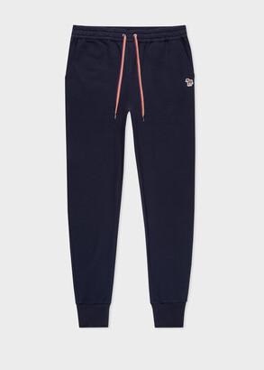 Paul Smith Women's Navy Zebra Logo Organic-Cotton Sweatpants