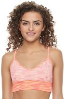 Juniors' SO® Seamless V-Neck Sports Bra