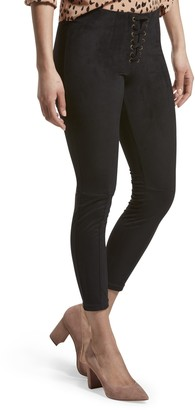 Hue Women's Lace-Up Microsuede Skimmer Legging