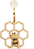 Delfina Delettrez 18-karat Gold Multi-stone Earring - one size
