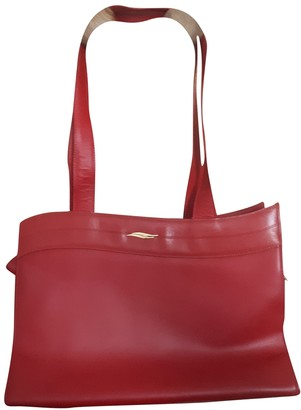 S.t. Dupont Red Leather Handbags