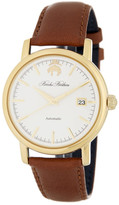 Brooks Brothers Men&s Core Collection Analog Leather Strap Watch