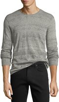 John Varvatos Graphic-Print Crewneck Sweater