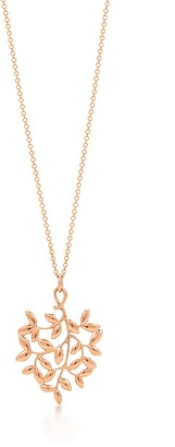 Tiffany & Co. Paloma Picasso Olive Leaf pendant in 18k rose gold, small