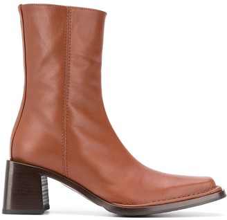 Acne Studios Square Toe Ankle Boots