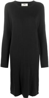 Sminfinity Folded slit-pocket dress
