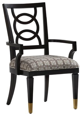 Lexington Carlyle Dining Chair Upholstery: Gray