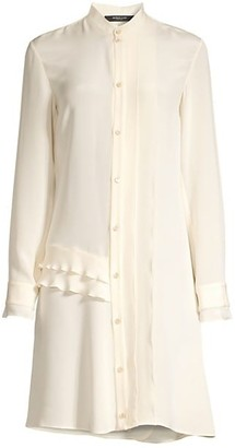 Derek Lam Silk Ruffled Shirtdress
