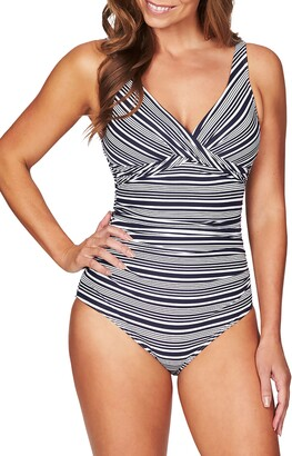 Sea Level Cross Front One-Piece Swimsuit