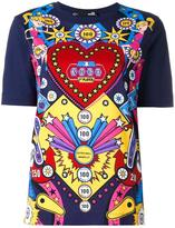 Love Moschino arcade game print T-shirt - women - Cotton - 40