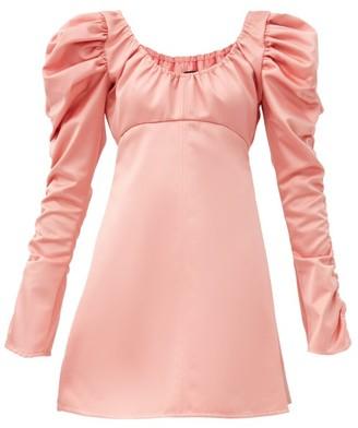 Ellery Amiata Off-the-shoulder Satin Mini Dress - Pink