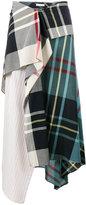 J.W.Anderson Tartan Asymmetric High Waisted Skirt