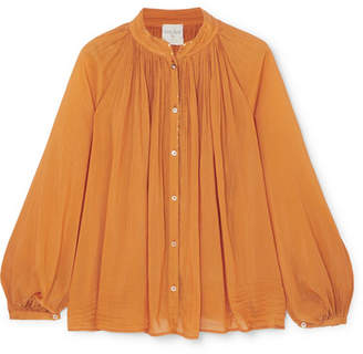 Forte Forte forte_forte - Cotton And Silk-blend Voile Blouse - Orange