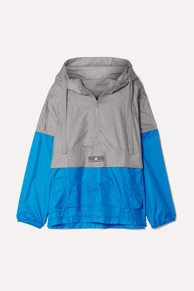 adidas by Stella McCartney Snake-effect Climastorm Hooded Jacket - Silver