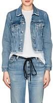 Off-White Women's Floral Denim Crop Jacket