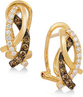 LeVian Le Vian Chocolatier® Gladiator WeaveTM Diamond Abstract (3/8 ct. t.w.) Stud Earrings in 14k Gold