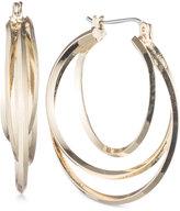 Nine West Gold-Tone Twisted Hoop Earrings