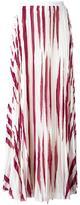 Tory Burch zebra print pleated skirt - women - Polyester - 2