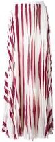 Tory Burch zebra print pleated skirt - women - Polyester - 4