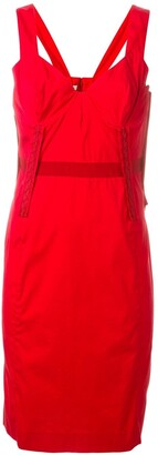 Prada Pre Owned Fitted Dress