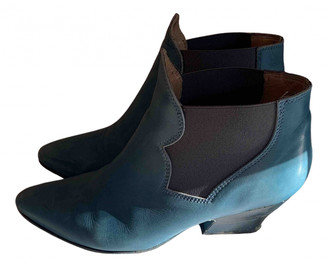 Acne Studios Turquoise Leather Ankle boots